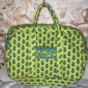Vera Bradley Green Floral Large Travel Duffel Bag